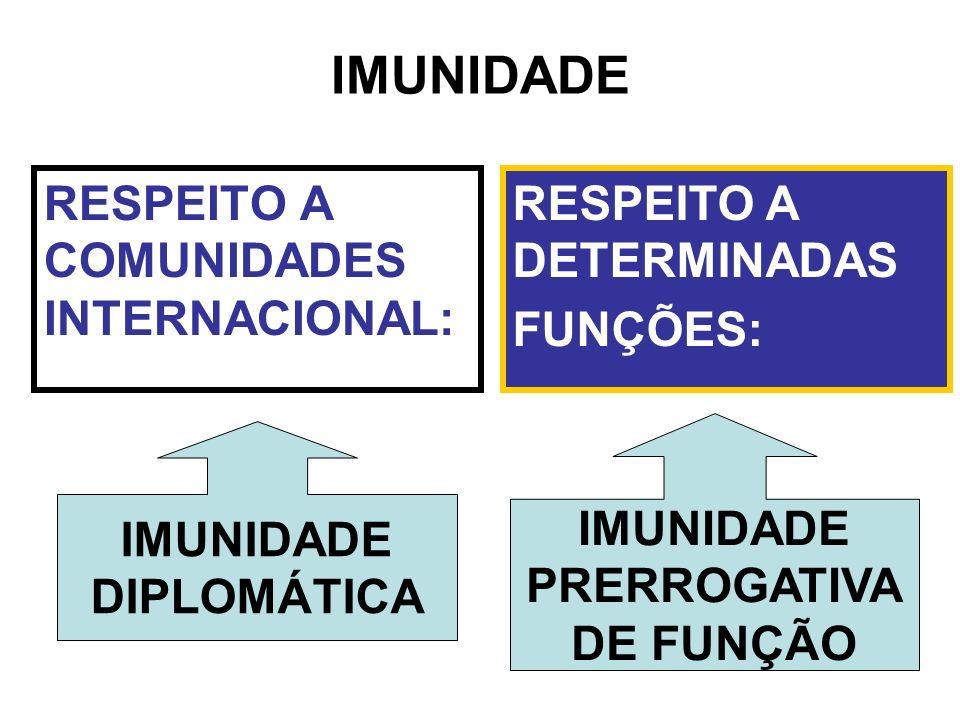 IMUNIDADE RESPEITO A COMUNIDADES INTERNACIONAL: