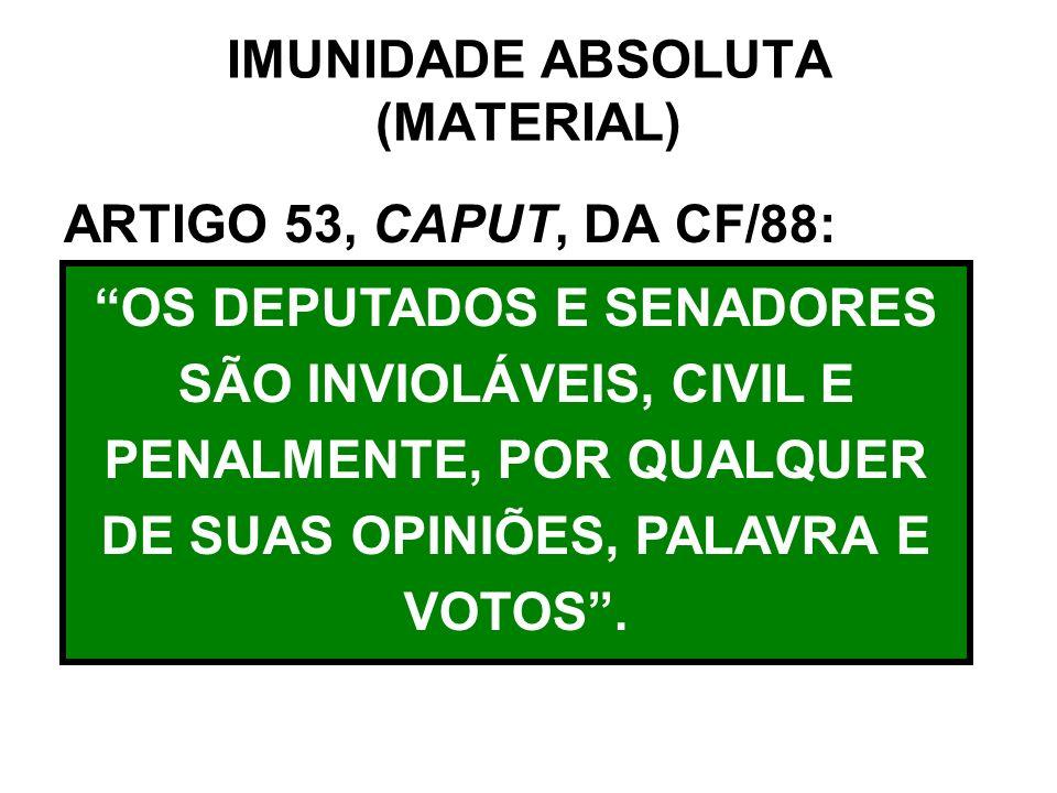 IMUNIDADE ABSOLUTA (MATERIAL)