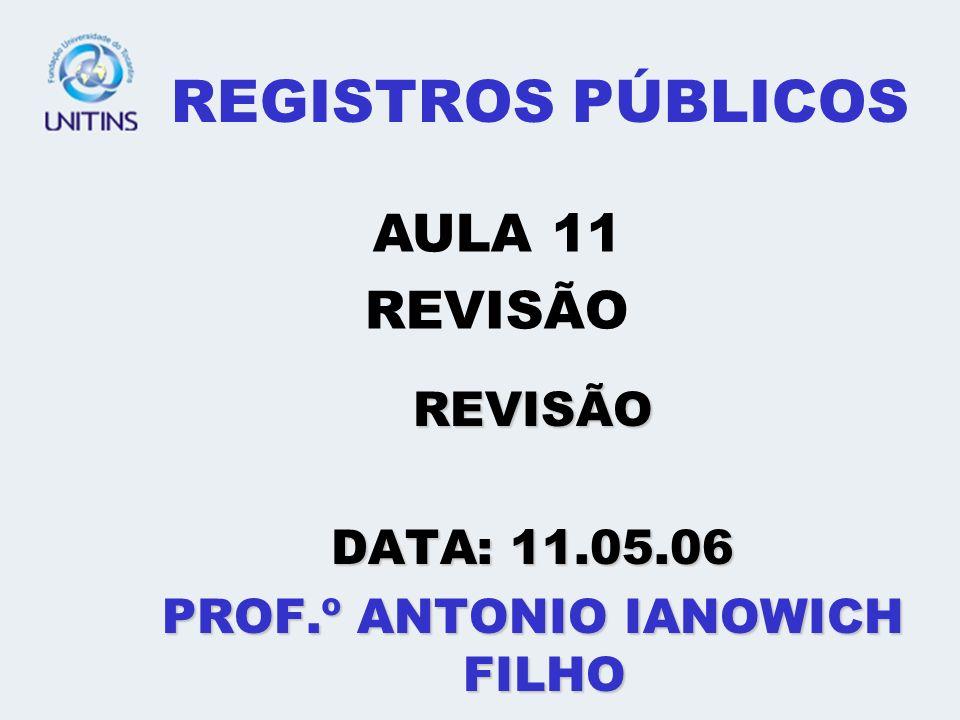 PROF.º ANTONIO IANOWICH FILHO