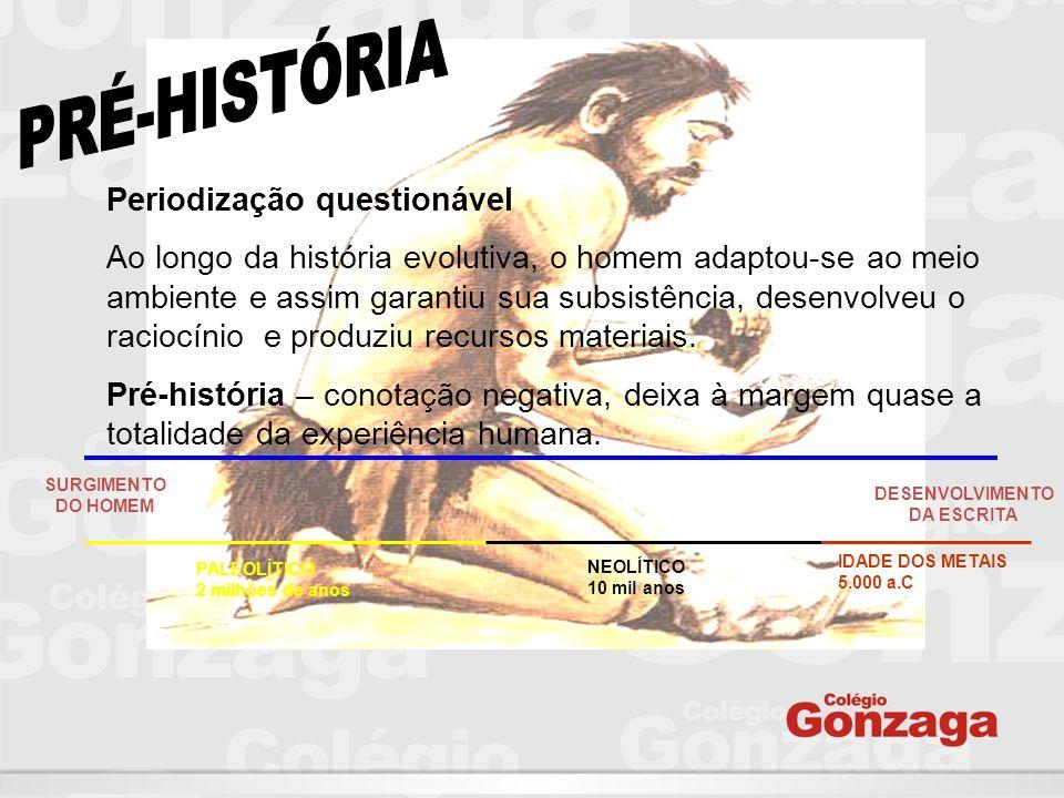 PRÉ-HISTÓRIA Periodização questionável