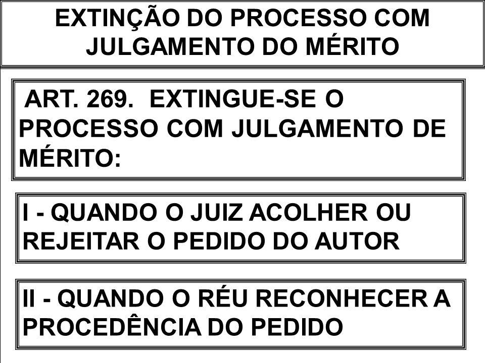EXTINÇÃO DO PROCESSO COM JULGAMENTO DO MÉRITO