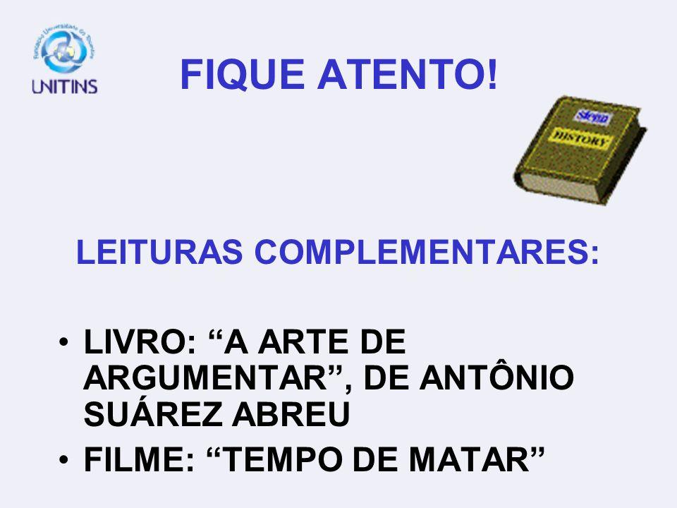 LEITURAS COMPLEMENTARES:
