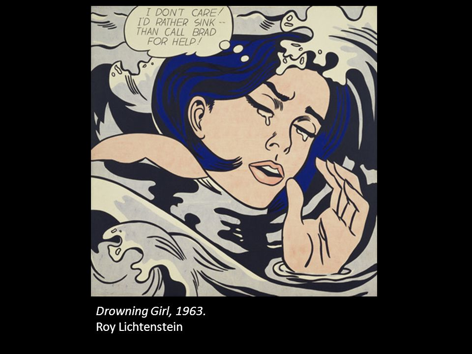 Drowning Girl, 1963. Roy Lichtenstein
