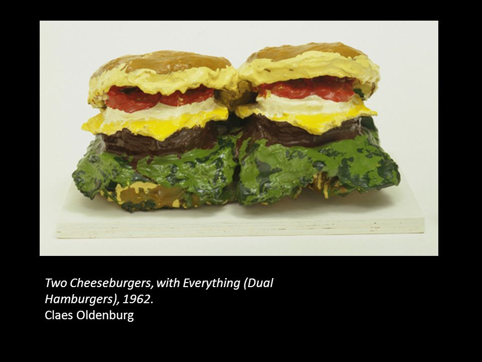 Two Cheeseburgers, with Everything (Dual Hamburgers), 1962.