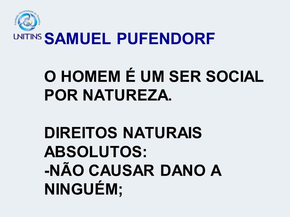SAMUEL PUFENDORF O HOMEM É UM SER SOCIAL POR NATUREZA