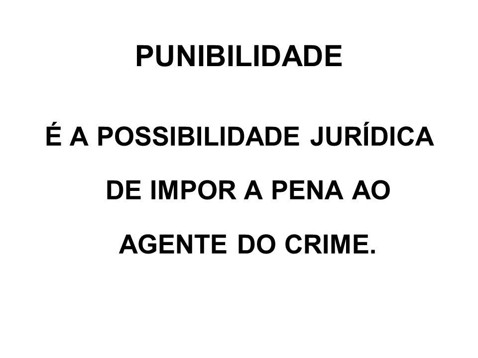 É A POSSIBILIDADE JURÍDICA DE IMPOR A PENA AO AGENTE DO CRIME.