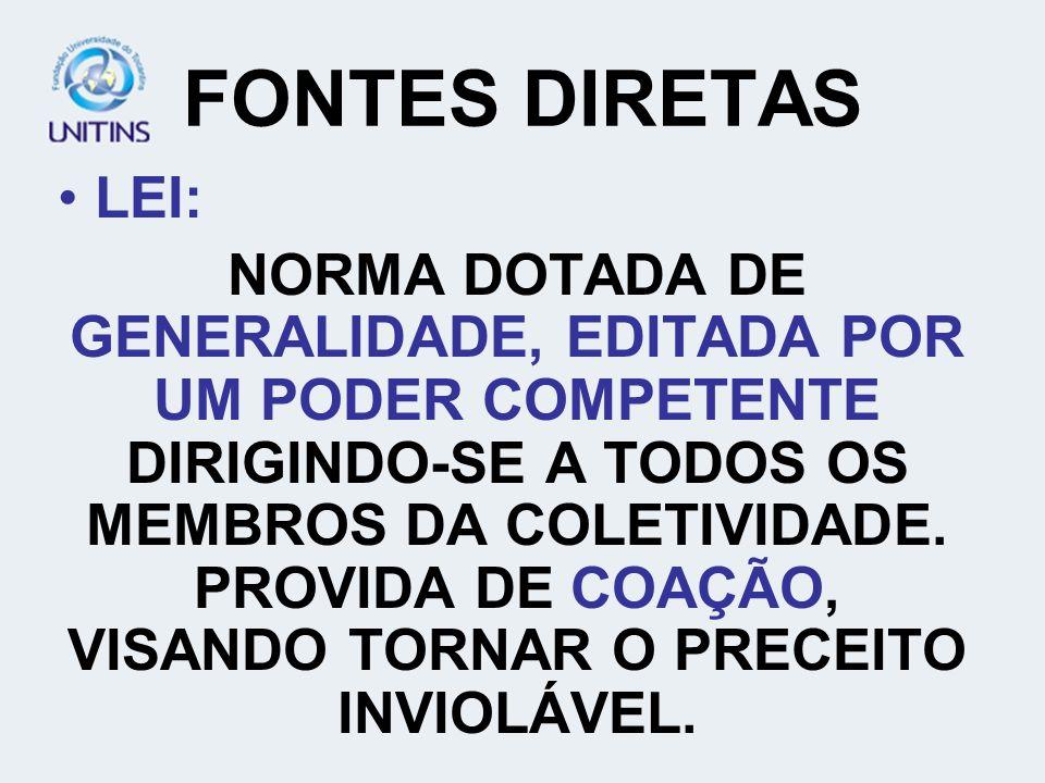FONTES DIRETAS LEI: