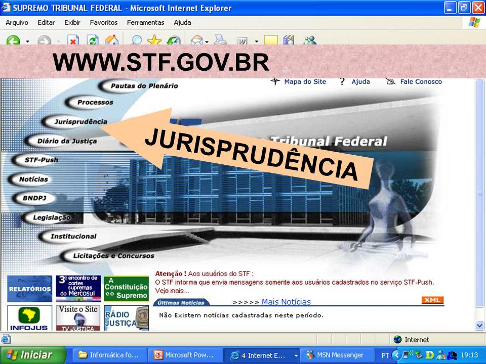 WWW.STF.GOV.BR JURISPRUDÊNCIA