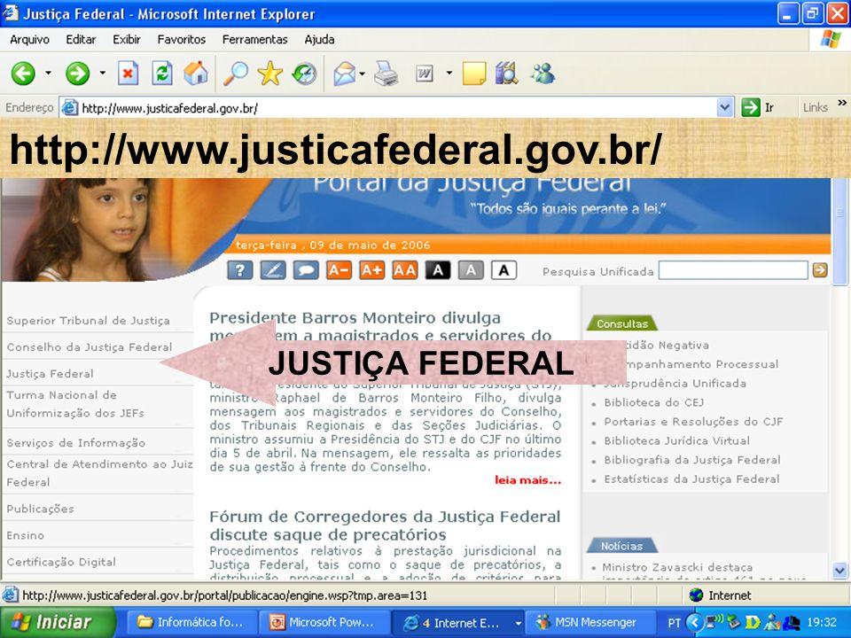 http://www.justicafederal.gov.br/ JUSTIÇA FEDERAL