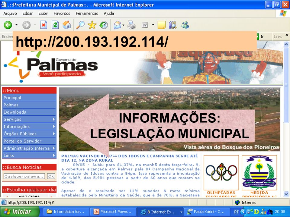 INFORMAÇÕES: LEGISLAÇÃO MUNICIPAL
