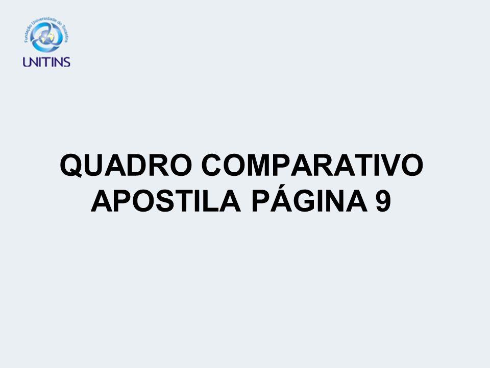 QUADRO COMPARATIVO APOSTILA PÁGINA 9