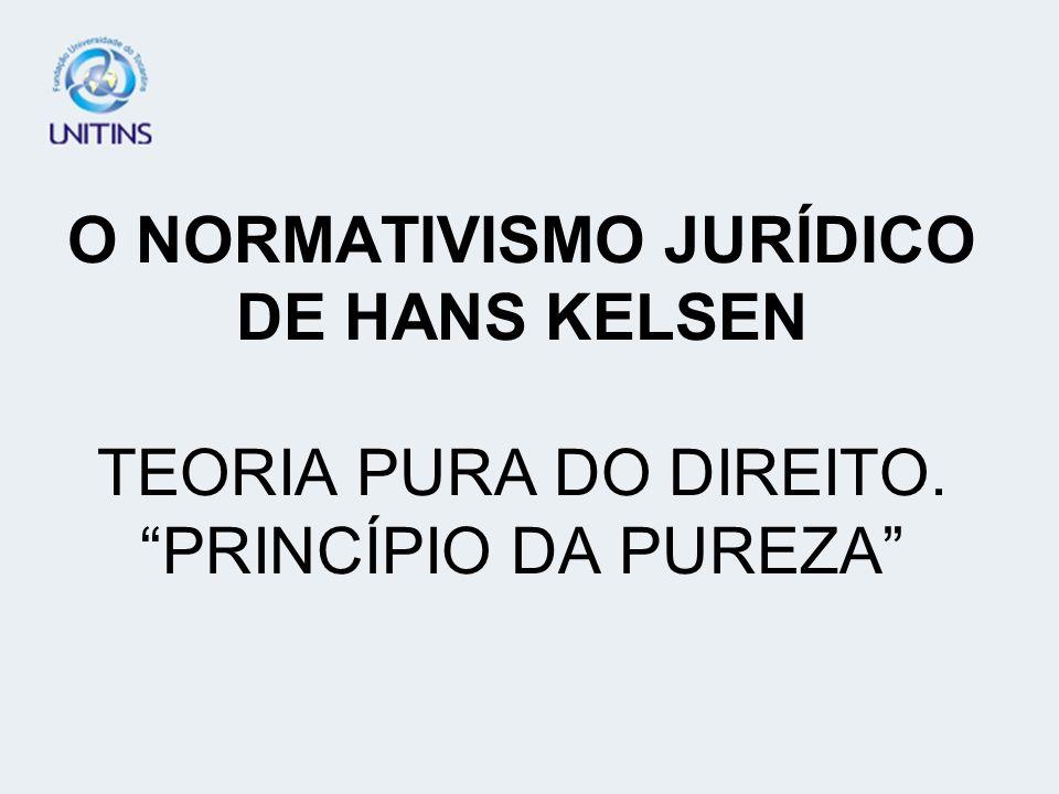O NORMATIVISMO JURÍDICO DE HANS KELSEN TEORIA PURA DO DIREITO