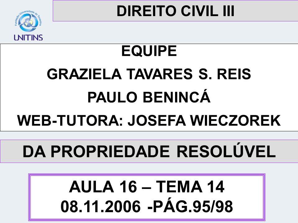 DA PROPRIEDADE RESOLÚVEL AULA 16 – TEMA 14 08.11.2006 -PÁG.95/98
