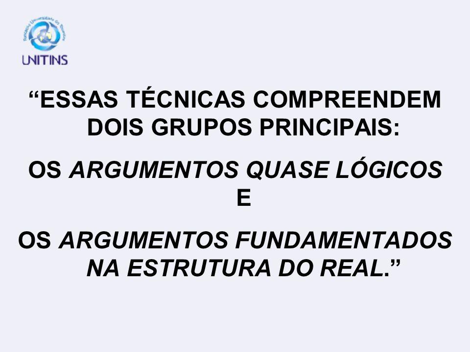 ESSAS TÉCNICAS COMPREENDEM DOIS GRUPOS PRINCIPAIS: