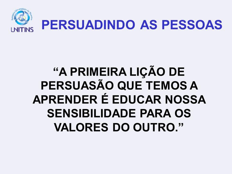 PERSUADINDO AS PESSOAS