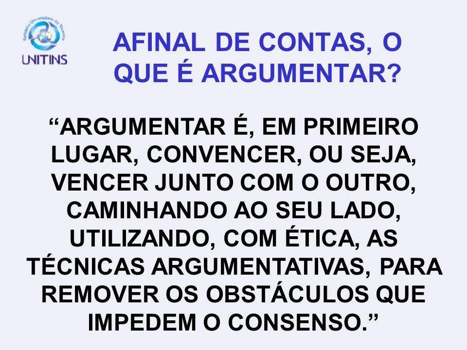 AFINAL DE CONTAS, O QUE É ARGUMENTAR