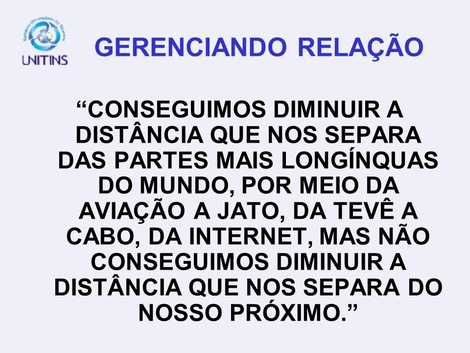 GERENCIANDO RELAÇÃO