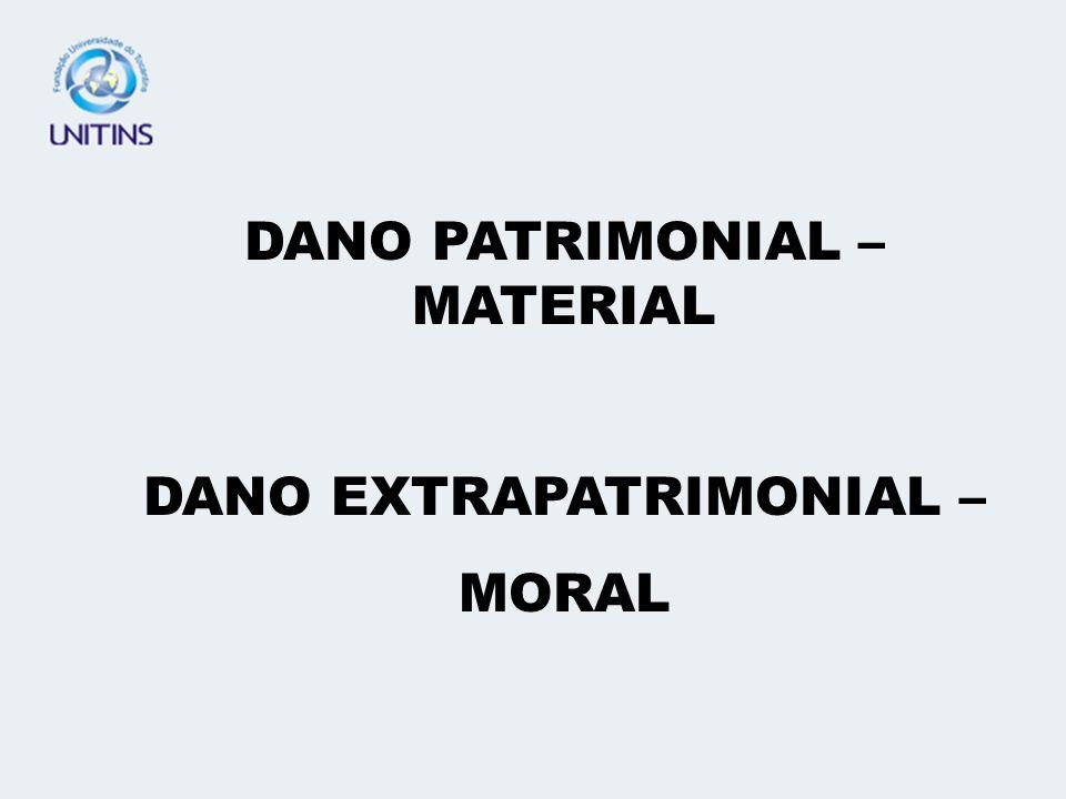 DANO PATRIMONIAL – MATERIAL