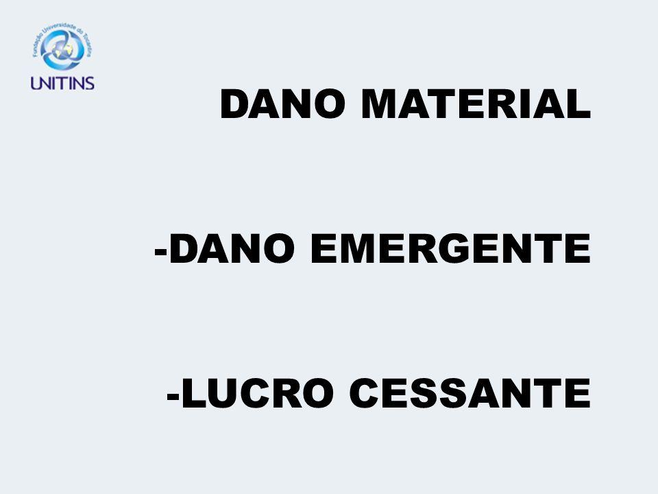 DANO MATERIAL DANO EMERGENTE LUCRO CESSANTE