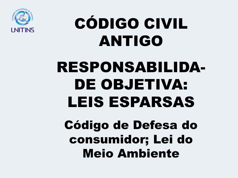 RESPONSABILIDA-DE OBJETIVA: LEIS ESPARSAS