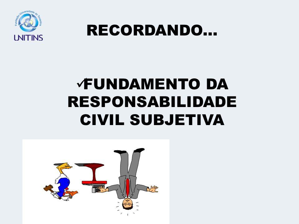 FUNDAMENTO DA RESPONSABILIDADE CIVIL SUBJETIVA