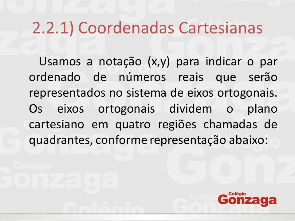 2.2.1) Coordenadas Cartesianas