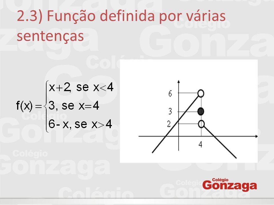 2.3) Função definida por várias sentenças