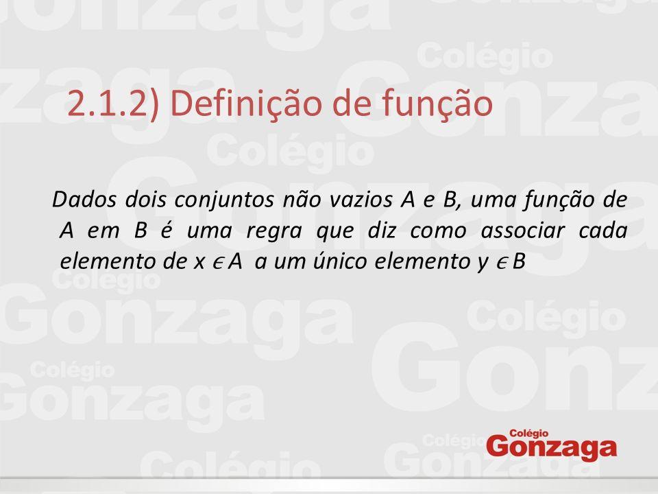 2.1.2) Definição de função