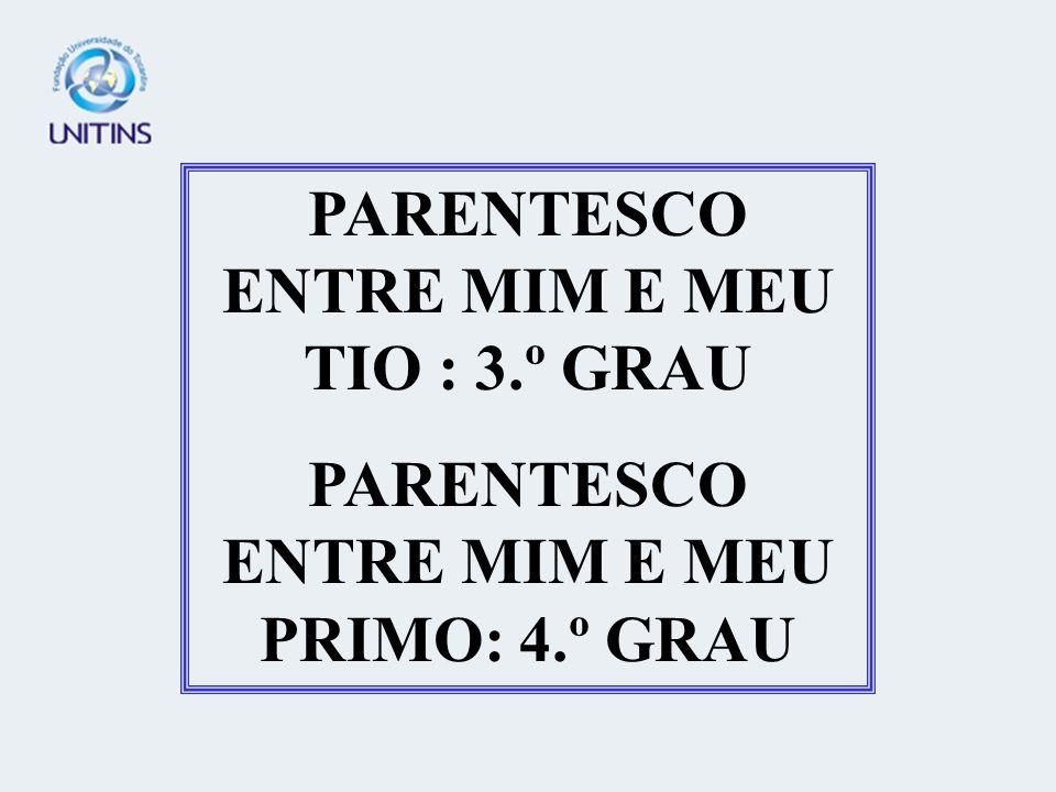 PARENTESCO ENTRE MIM E MEU TIO : 3.º GRAU