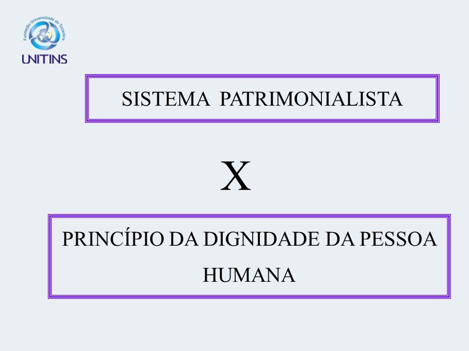 SISTEMA PATRIMONIALISTA