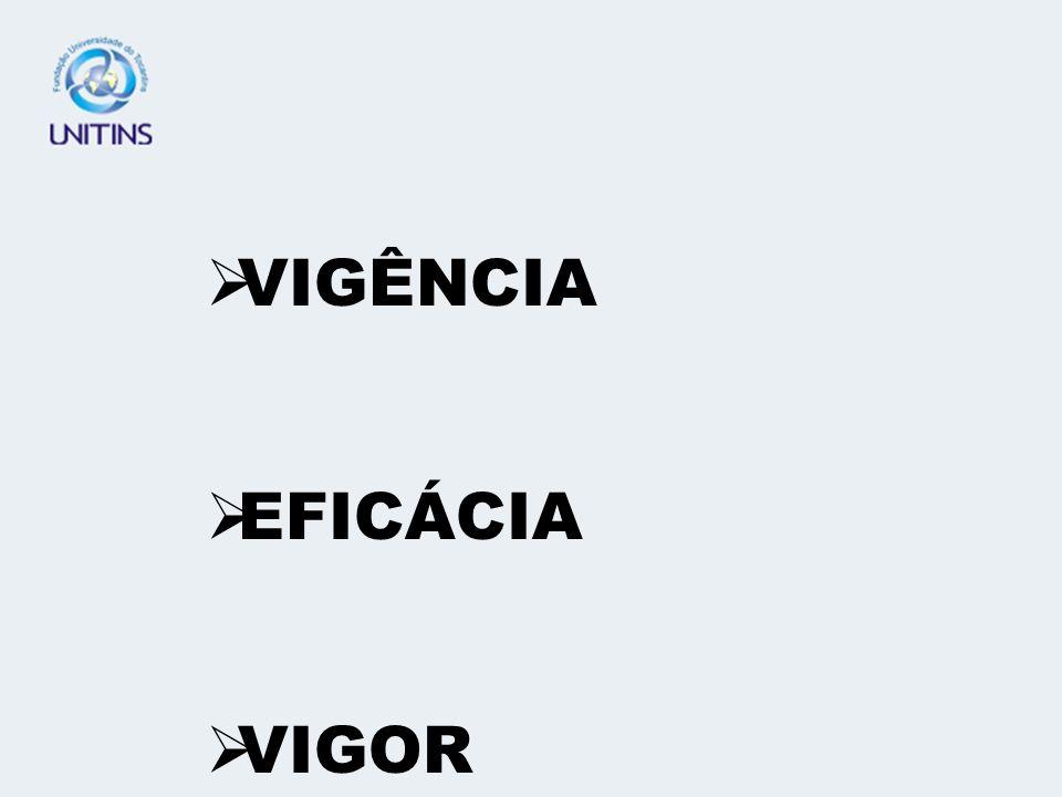 VIGÊNCIA EFICÁCIA VIGOR