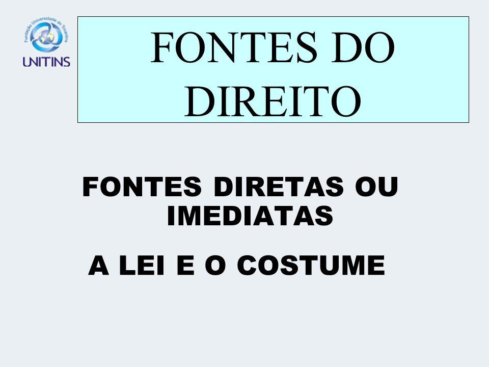 FONTES DIRETAS OU IMEDIATAS
