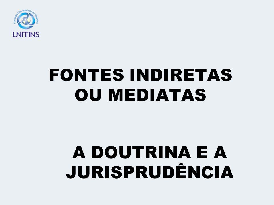 FONTES INDIRETAS OU MEDIATAS