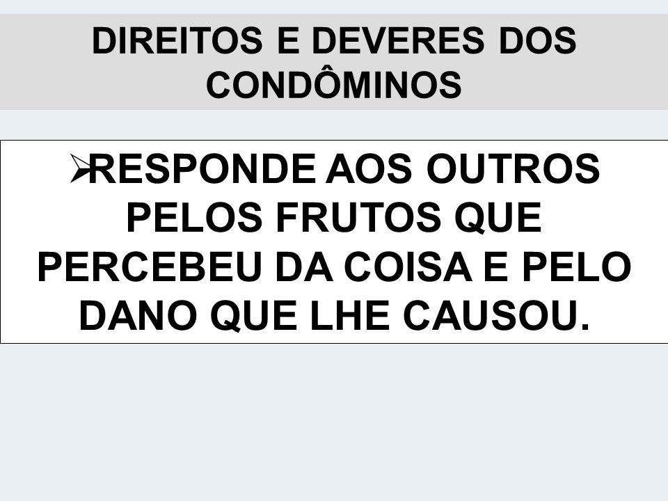 DIREITOS E DEVERES DOS CONDÔMINOS
