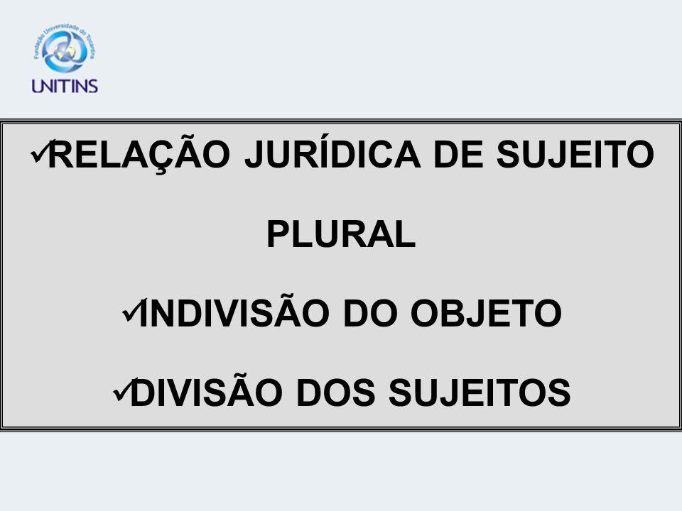RELAÇÃO JURÍDICA DE SUJEITO