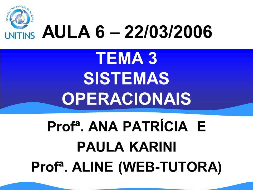 TEMA 3 SISTEMAS OPERACIONAIS
