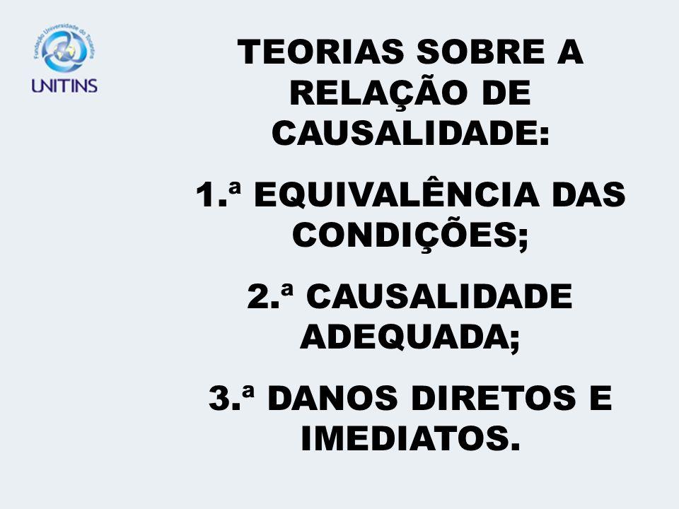 TEORIAS SOBRE A RELAÇÃO DE CAUSALIDADE: