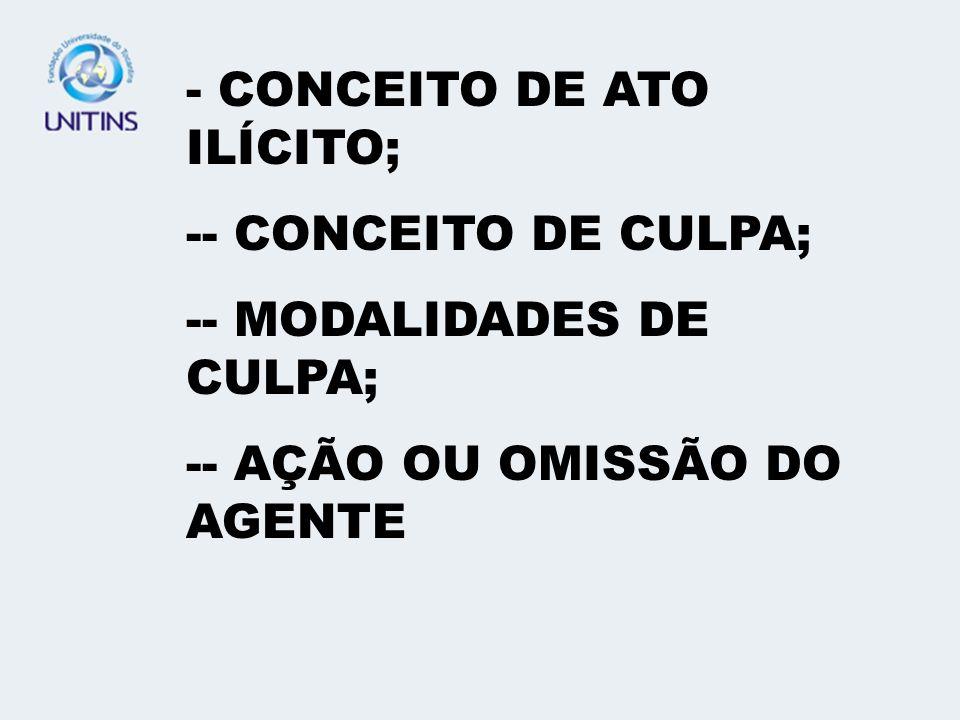 CONCEITO DE ATO ILÍCITO;