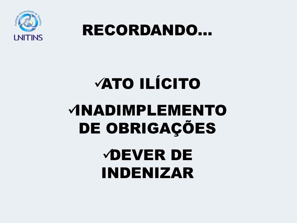 INADIMPLEMENTO DE OBRIGAÇÕES