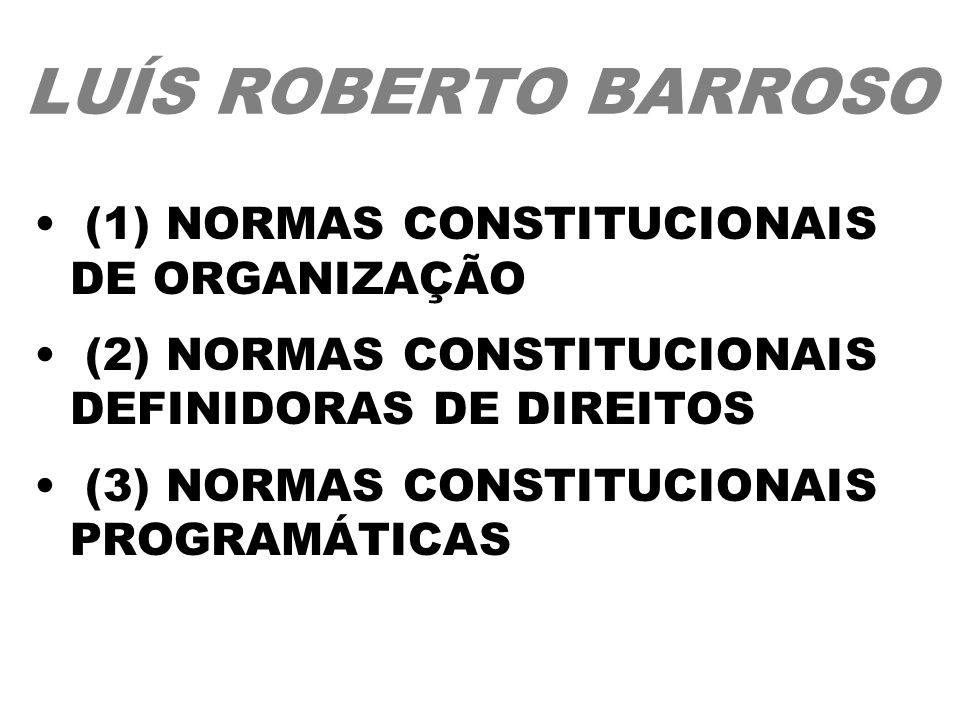 LUÍS ROBERTO BARROSO (1) NORMAS CONSTITUCIONAIS DE ORGANIZAÇÃO
