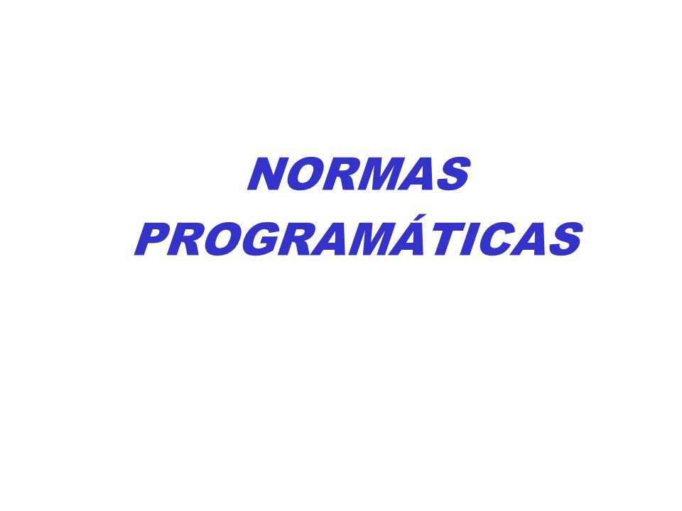 NORMAS PROGRAMÁTICAS