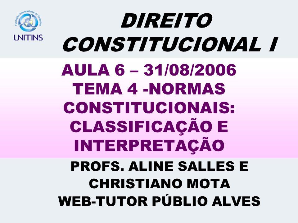 PROFS. ALINE SALLES E CHRISTIANO MOTA WEB-TUTOR PÚBLIO ALVES