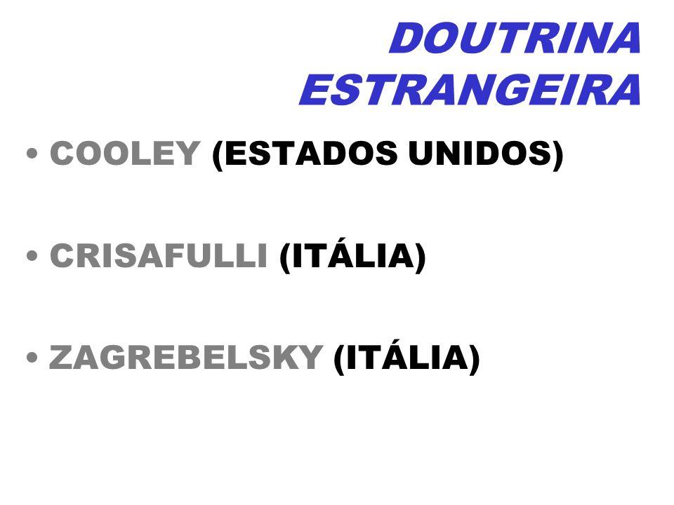 DOUTRINA ESTRANGEIRA COOLEY (ESTADOS UNIDOS) CRISAFULLI (ITÁLIA)
