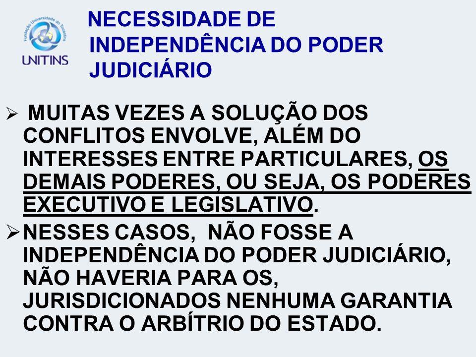 NECESSIDADE DE INDEPENDÊNCIA DO PODER JUDICIÁRIO