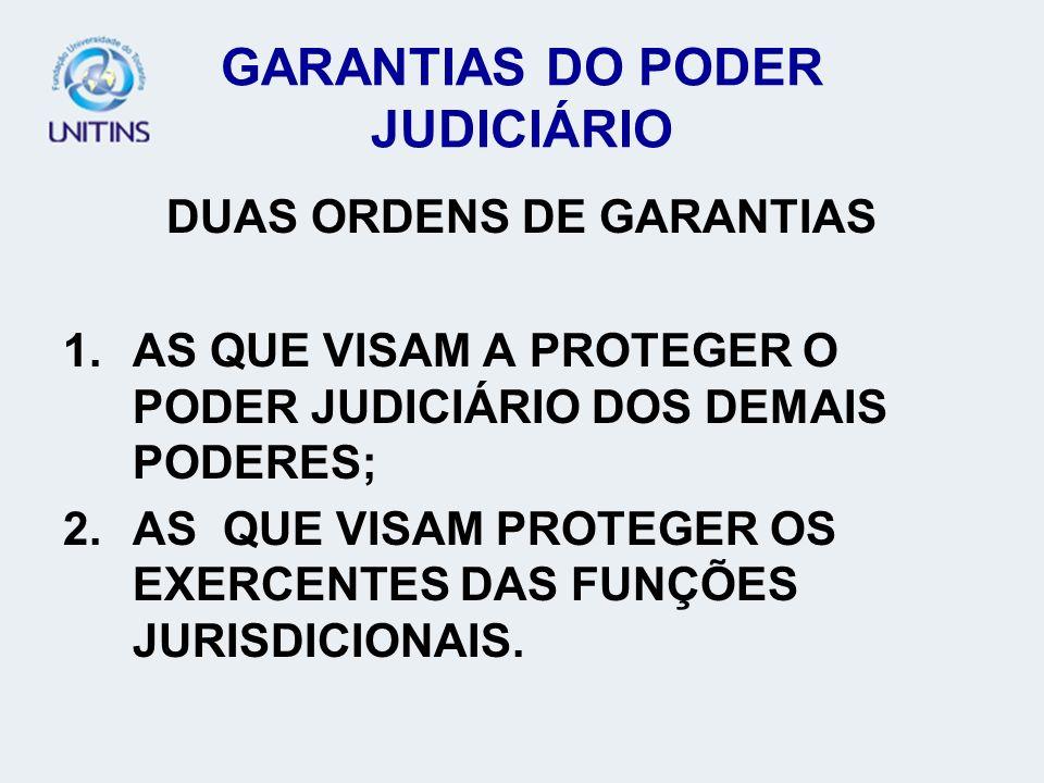 GARANTIAS DO PODER JUDICIÁRIO