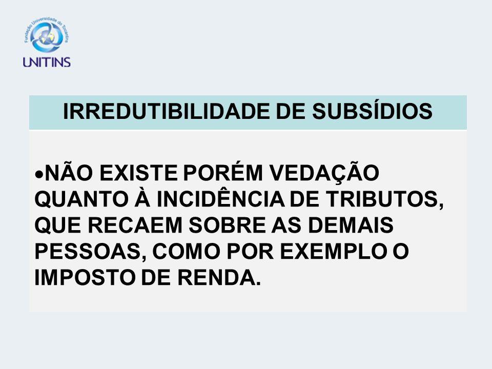 TEORIA GERAL DO PROCESSO - TGP IRREDUTIBILIDADE DE SUBSÍDIOS