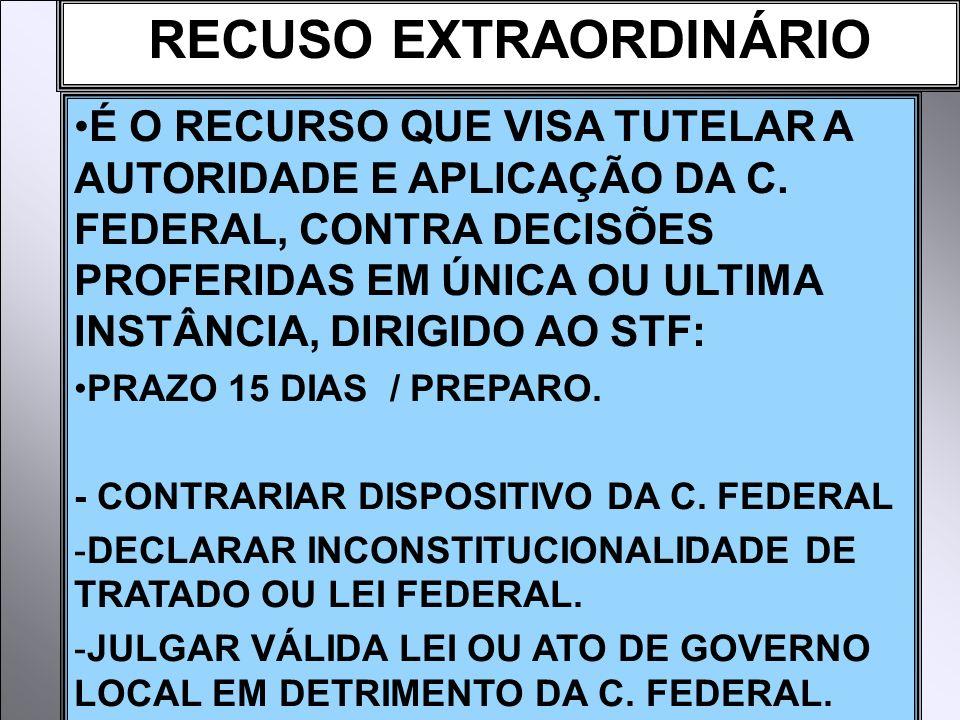 RECUSO EXTRAORDINÁRIO