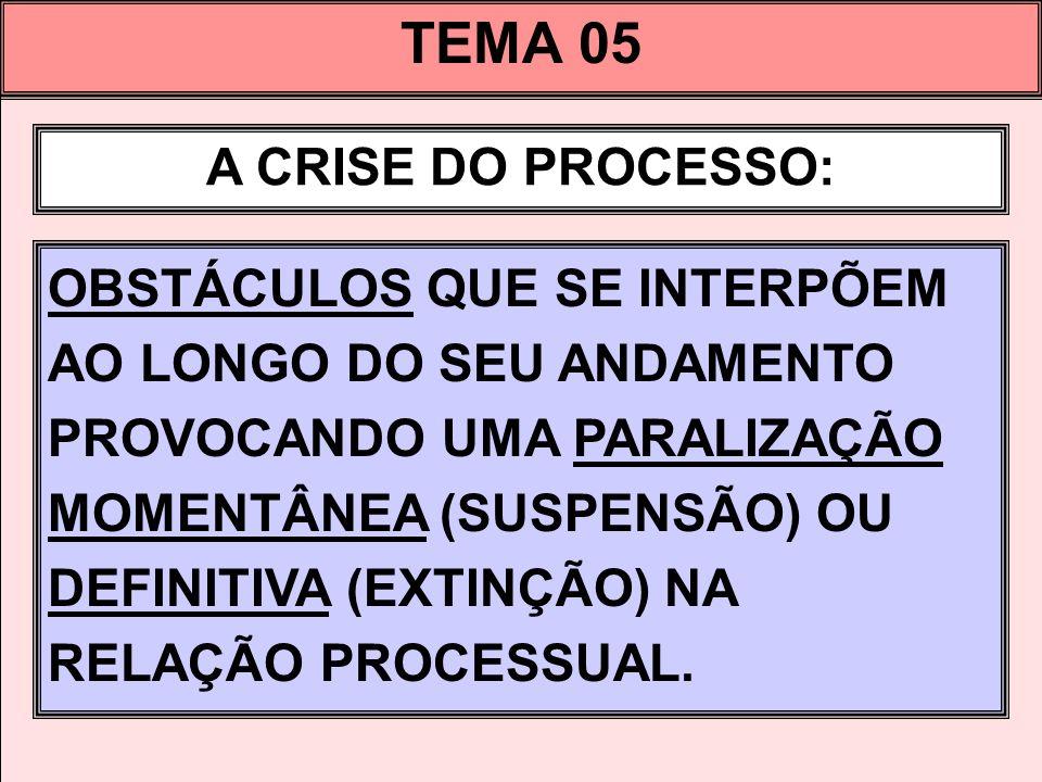 TEMA 05 A CRISE DO PROCESSO: