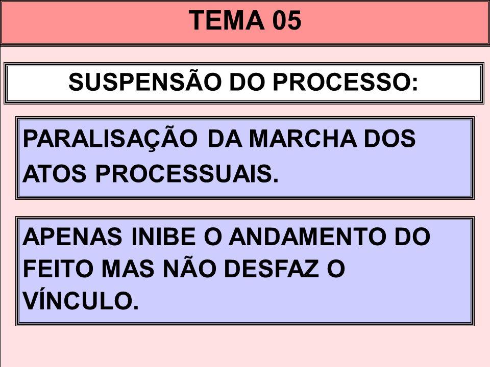 SUSPENSÃO DO PROCESSO: