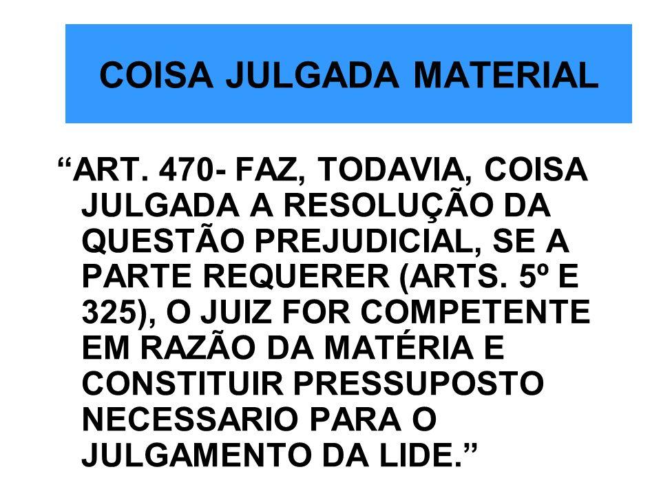 COISA JULGADA MATERIAL